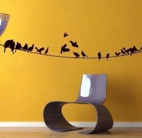 Decoração barata: adesivos para a parede