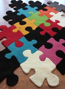 Ideia Decorar Tapete ideal para qualquer ambiente Tapete Puzzle 9