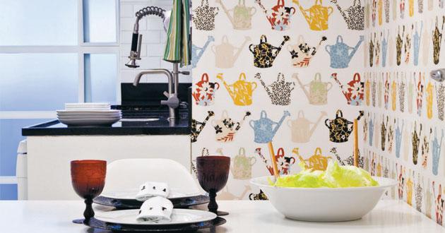 Ideia Decorar Papel de parede para a cozinha IdeiaDecorar papel de parede cozinha 6