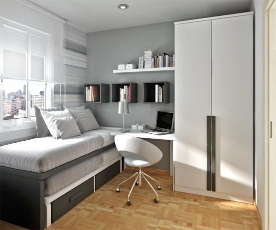 Ideia Decorar 10 ideias para decorar quartos pequenos quarto pequeno 6