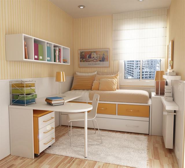Ideia Decorar 10 ideias para decorar quartos pequenos quarto pequeno 9