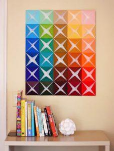 Ideia Decorar Quadro colorido feito com papel quadro colorido feito com papel