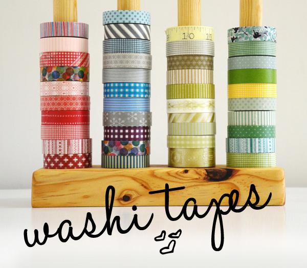Ideias de decoração com washi tapes