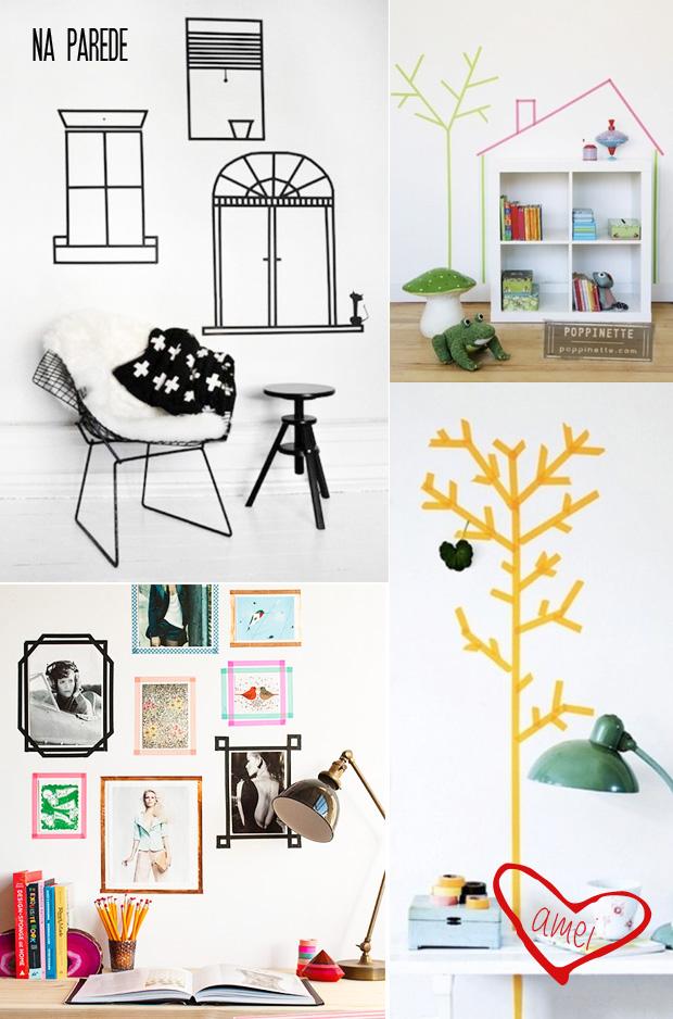 Ideia Decorar Ideias de decoração com washi tapes washitapesparede