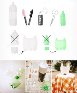 Ideia Decorar Vaso-de-flores-com-garrafa-PET-ingredientes Vaso de flores com garrafa PET ingredientes