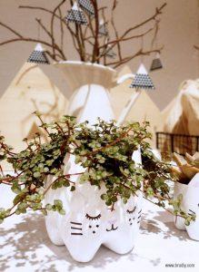 Ideia Decorar Vaso-de-flores-com-garrafa-PET-planta Vaso de flores com garrafa PET planta
