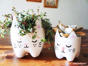 Ideia Decorar Vaso-de-flores-com-garrafa-PET-tamanhos Vaso de flores com garrafa PET tamanhos