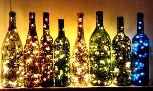 Ideia Decorar garrafas-luminaria garrafas luminaria