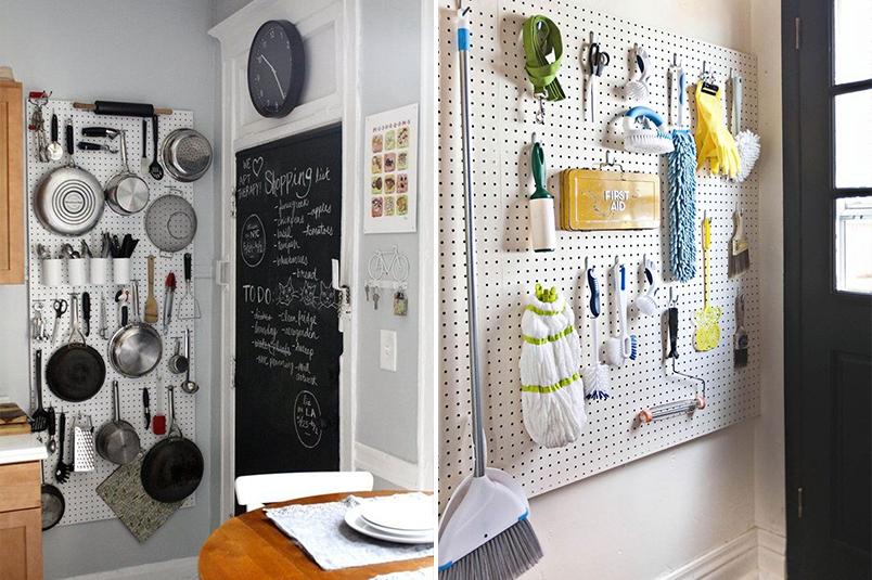 Como usar o pegboard na decoração e organização da casa