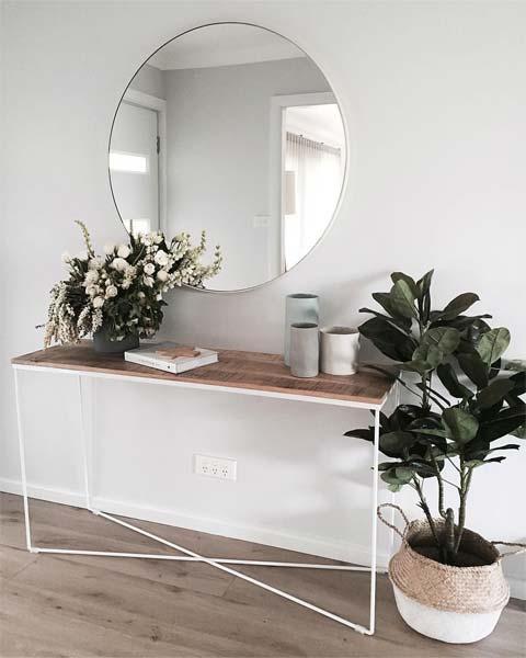 Espelho redondo na decoração