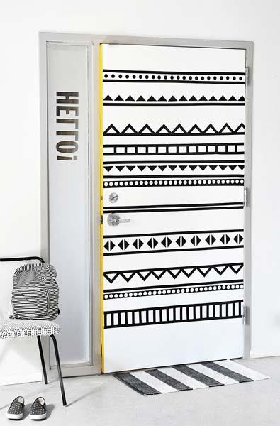 Ideia Decorar Decoração: Porta estampada porta estampada1