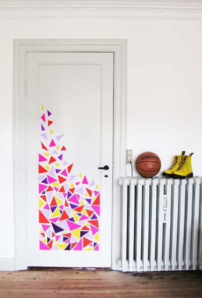 Ideia Decorar Decoração: Porta estampada porta estampada11