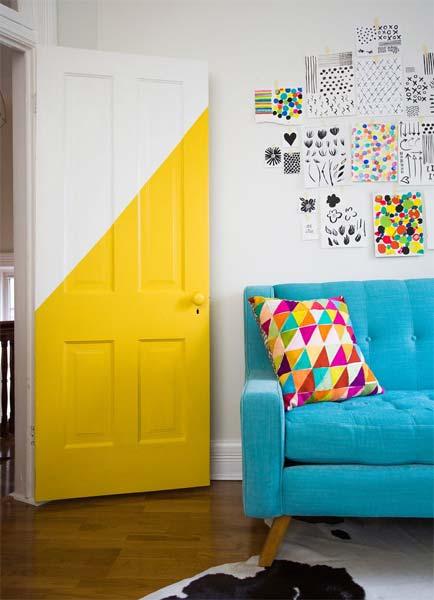 Ideia Decorar Decoração: Porta estampada porta estampada2