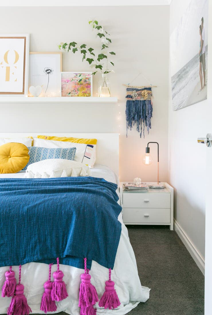 Ideia Decorar Ideias baratas para decorar o quarto Ideias charmosas mas baratas para decoracao de quartos17