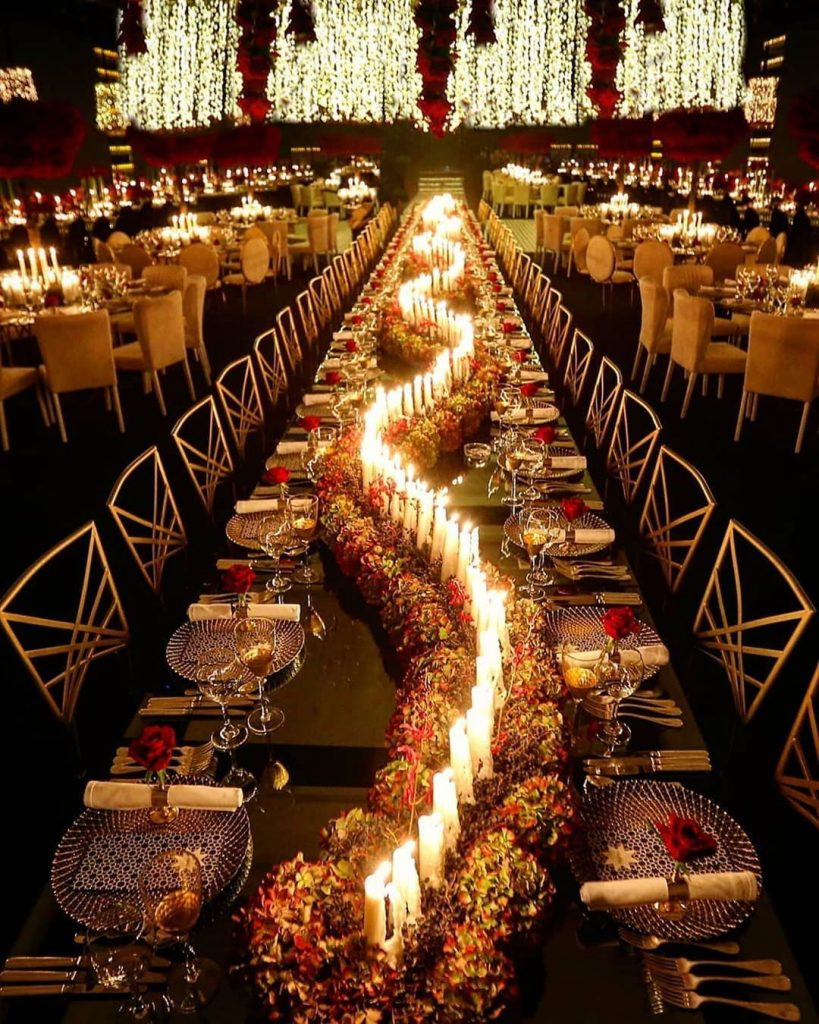 Efeitos de iluminação na decoração de casamento