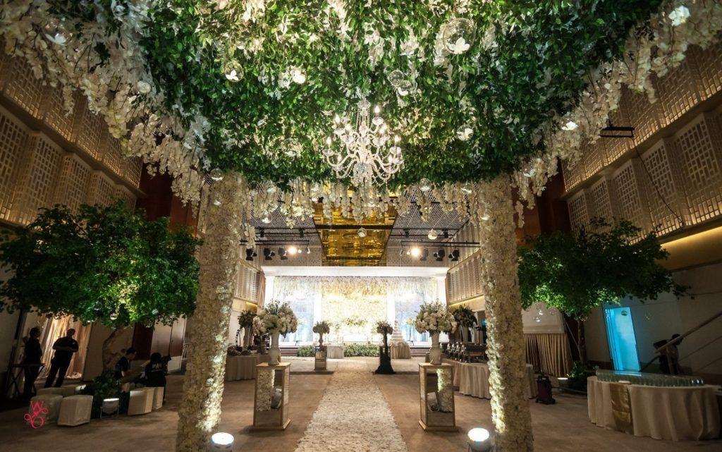 Decoração de hall de entrada para casamento