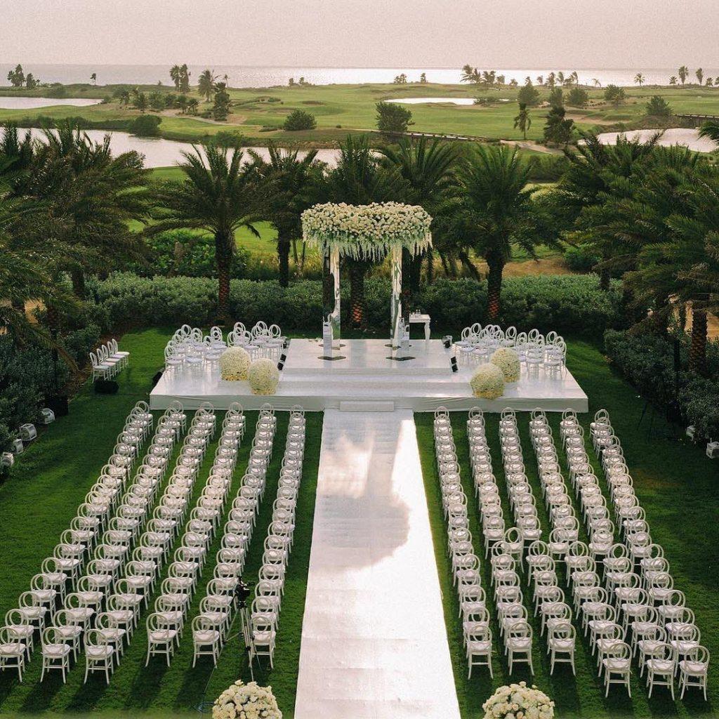 Decoração para casamento ao céu aberto no interior