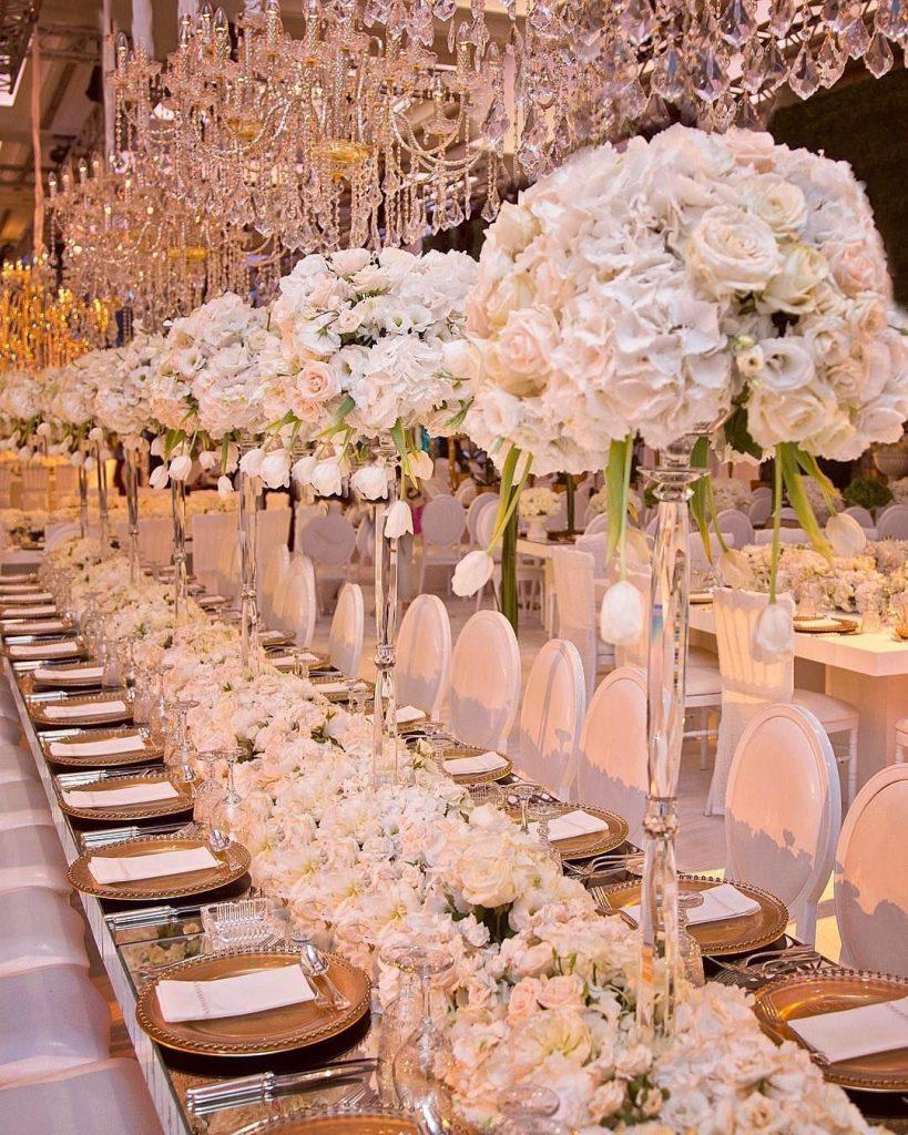 Decoração de casamento para mesa única